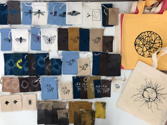 Tote bags and pouches