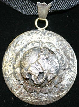 Double Mounted Bronc Pendant