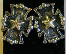 Antique Roper Cross Earrings