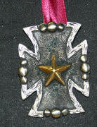 Antique Roper Cross Pendant