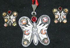 Butterfly (239) Pendant & Earrings