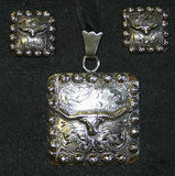 Story Teller Steer Pendant & Earrings