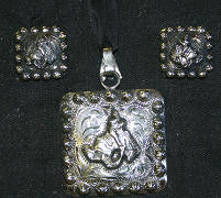 Story Teller Bronc Pendant & Earrings