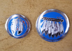1 3/4 inch inlay feather conchos