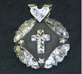 Iron Story Teller Cross Pendant