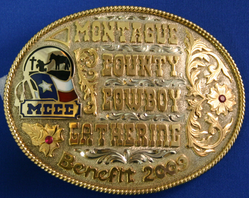 Montague County Cowboy Belt Buckle
