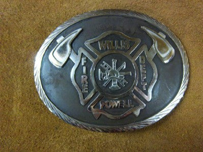 Oval Firefighter Belt Buckle