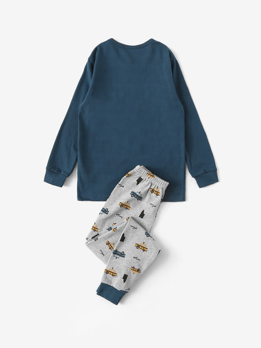 Boys Car Print Pajama Set - Alluforu