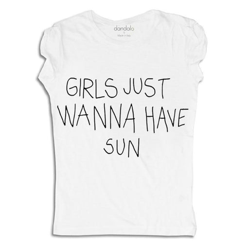 "T-Shirt ""Girls Just Wanna Have Sun"" - Alluforu"