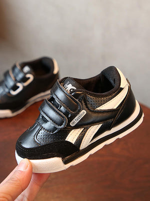 Baby Two Tone Velcro Strap Sneakers