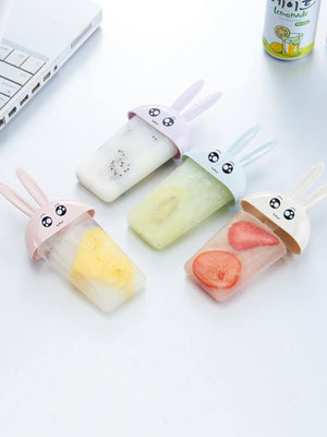 4 Compartment Rabbit Popsicle Mold