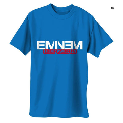 Eminem Berzerk Logo - Mens Royal Blue T-Shirt - Alluforu