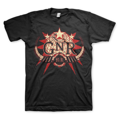 Guns N' Roses Globe - Mens Black T-Shirt - Alluforu