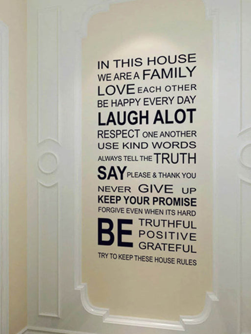 Slogan Wall Sticker