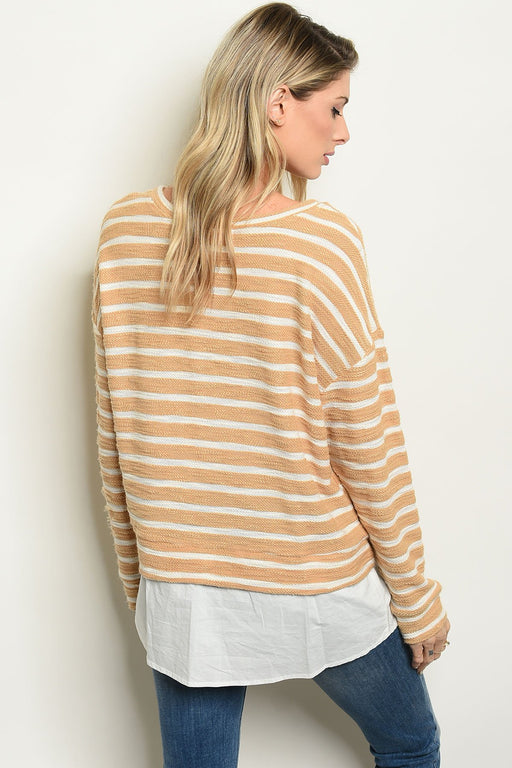 Womens Stripes Top - Alluforu