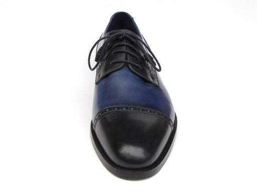 Paul Parkman Men's Parliament Blue Derby Shoes Leather Upper and Leather Sole (ID#046-BLU) - Alluforu