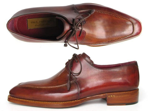 Paul Parkman Goodyear Welted Square Toe Apron Derby Shoes Brown (ID#322A7) - Alluforu