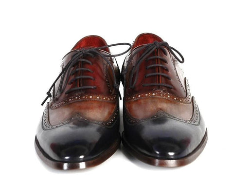Paul Parkman Men's Three Tone Wingtip Oxfords (ID#PP2278) - Alluforu