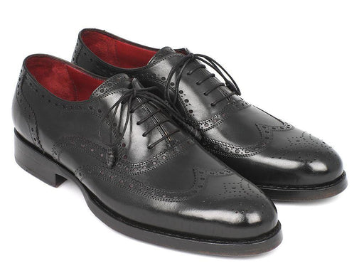 Paul Parkman Wingtip Oxford Goodyear Welted Black (ID#027-BLK) - Alluforu