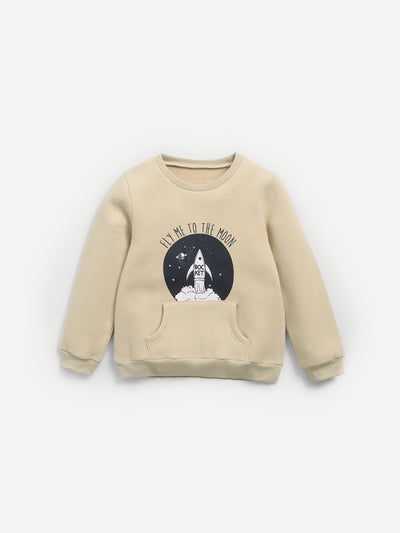 Boys Rocket Print Sweatshirt