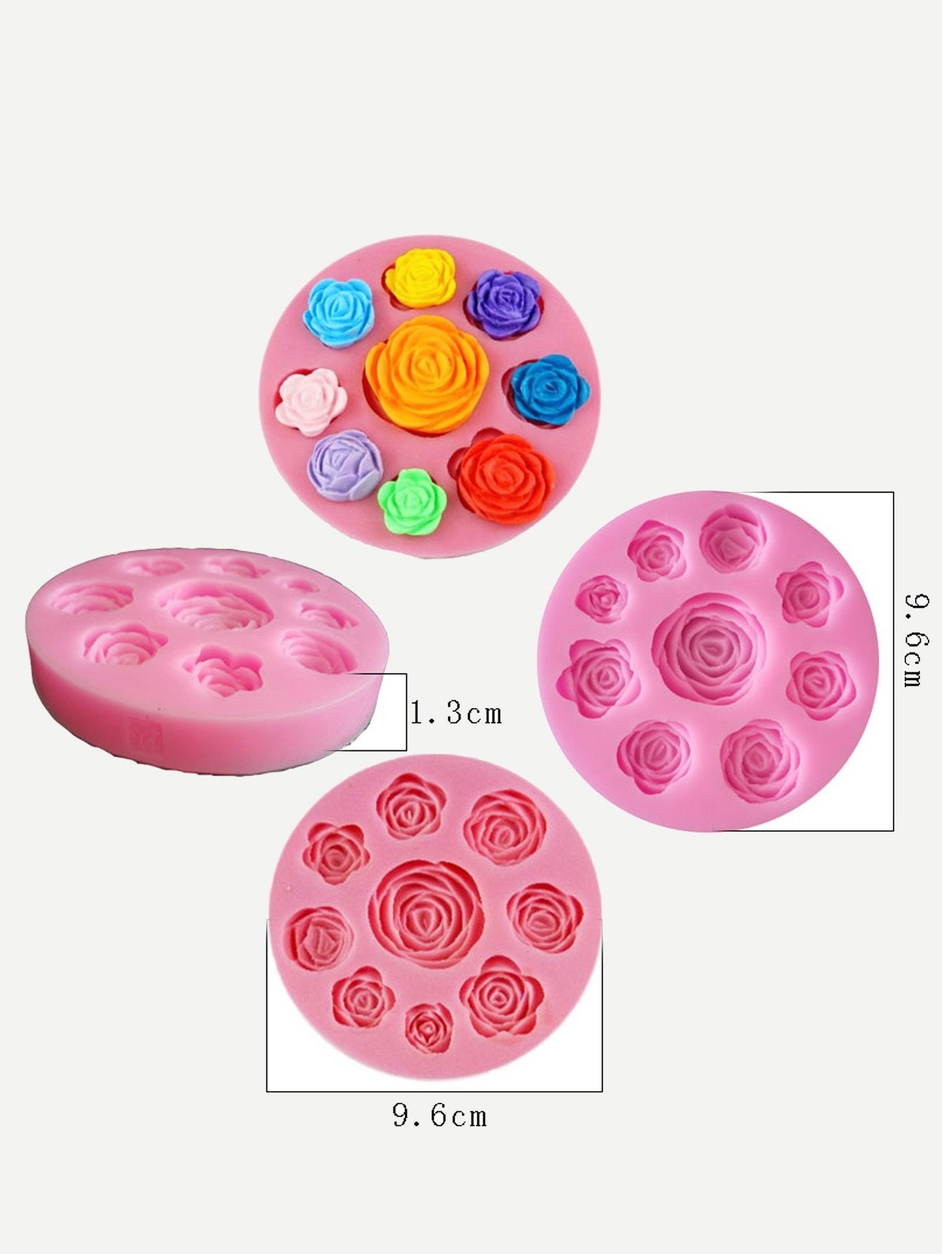 9 Compartment Flower Baking Mold 1pc