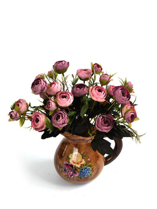 Artificial Flowers With Teapot Shaped Vase - Alluforu