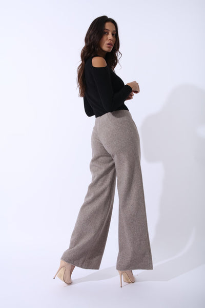 Sahara Trousers In Cashmere Wool Gazelles Of The Desert - Alluforu