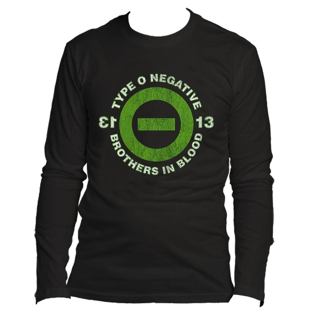 Type O Negative 13 Bob - Mens Black Long Sleeve T-Shirt - Alluforu