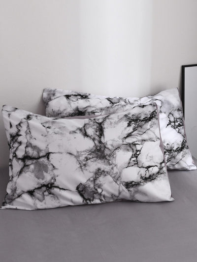 Marble Print Pillowcase Cover 1Pair
