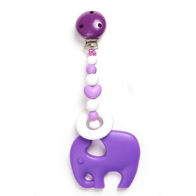 Clippable Elephant Teething Toy - Alluforu