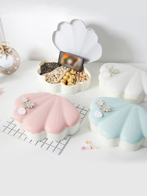 Scallop Shaped Snack Tray 1pc