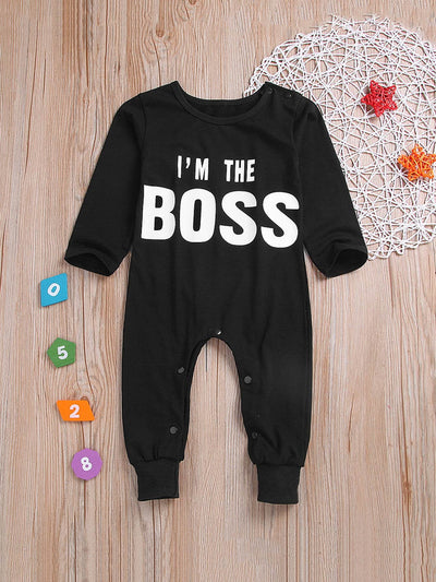 Toddler Boys Letter Print Jumpsuit
