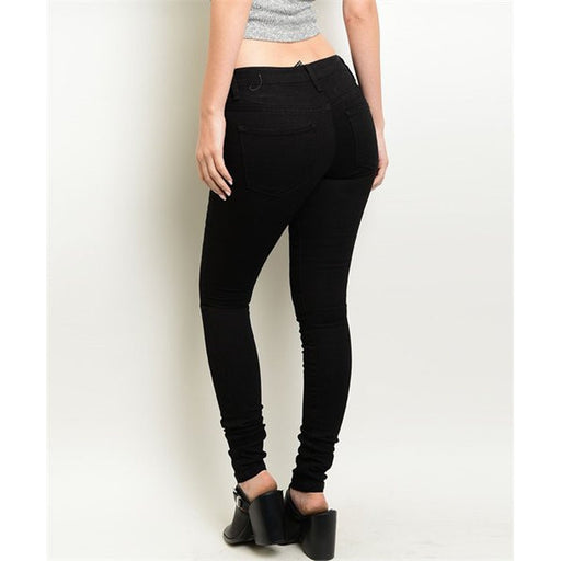 Skinny Jeans For Women - Black - Alluforu