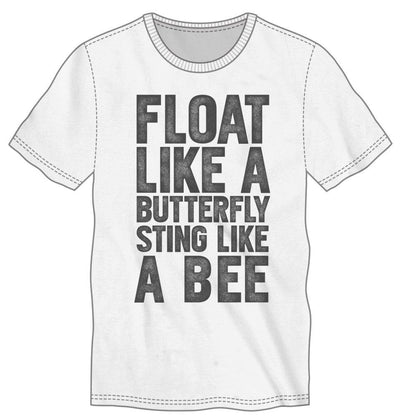 Muhammad Ali Foat Like A Butterfly Sting Like A Bee Men's Black T-Shirt Tee Shirt - Alluforu