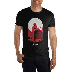 RWBY Team Ruby Men's Black T-Shirt Tee Shirt - Alluforu