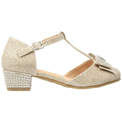 Toddler & Youth T-Strap Glitter Mary Jane Pump - Alluforu