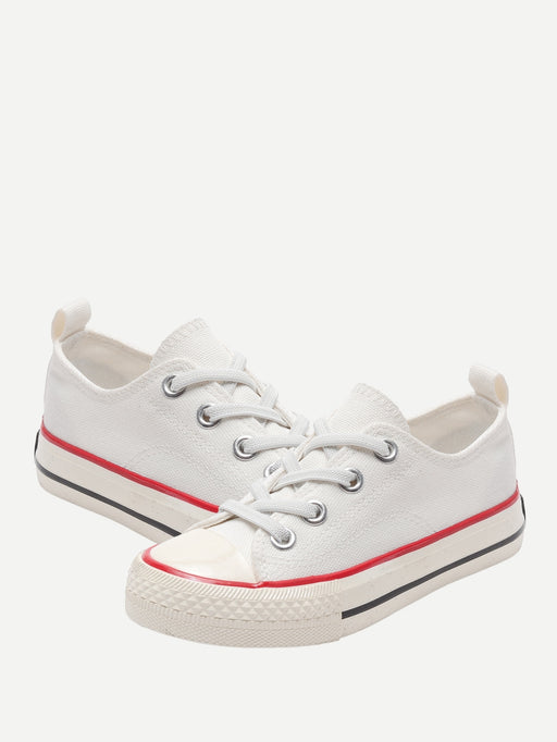 Toddler Kids Lace-up Canvas Sneakers - Alluforu