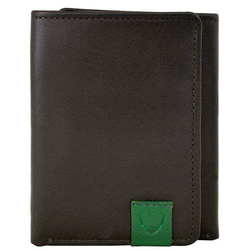 Dylan Compact Trifold Leather Wallet with ID Window - Alluforu