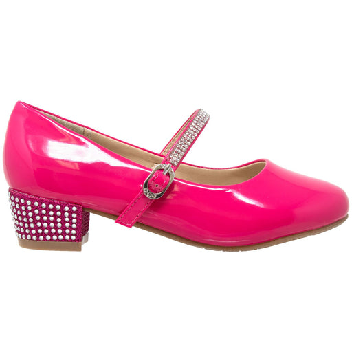 Toddler & Youth Rhinestone Mary Jane Pump - Alluforu