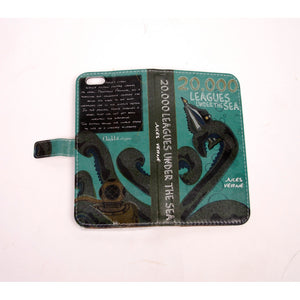20,000 Leagues phone flip case wallet for iPhone and Samsung - Alluforu