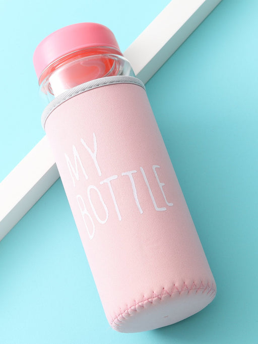 Clear Water Bottle 500ML With Bag - Alluforu