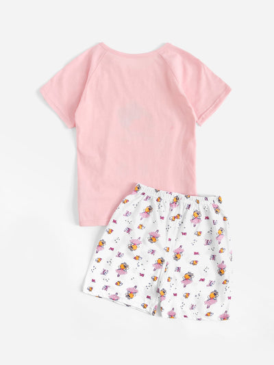 Toddler Girls Cartoon Girl Print Pajama Set