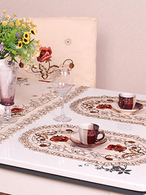 Floral Embroidery Placemat 1pc