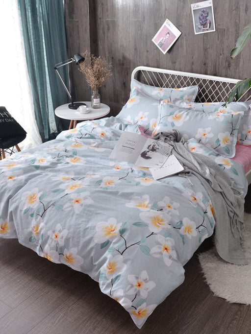 Flower Print Duvet Cover 1PC
