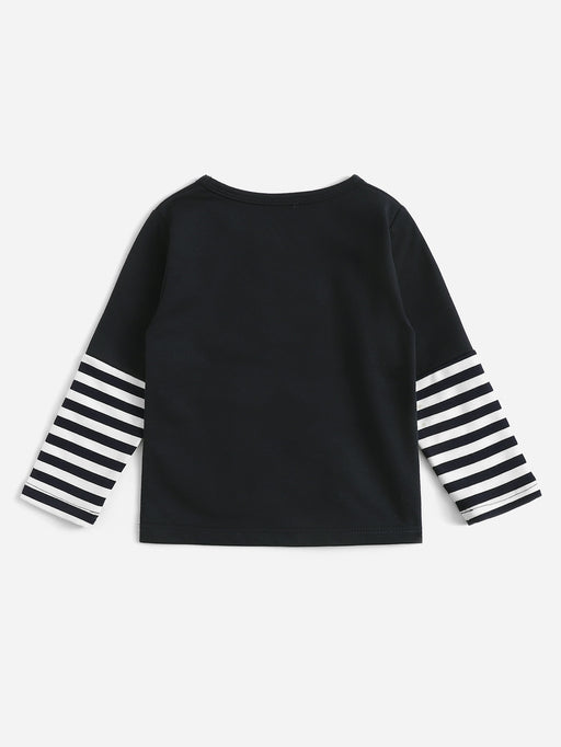 Toddler Boys Anchor Embroidered Striped Sweatshirt
