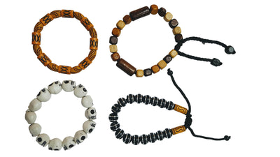 4 Pc Beaded Stackable Tribal Bracelets