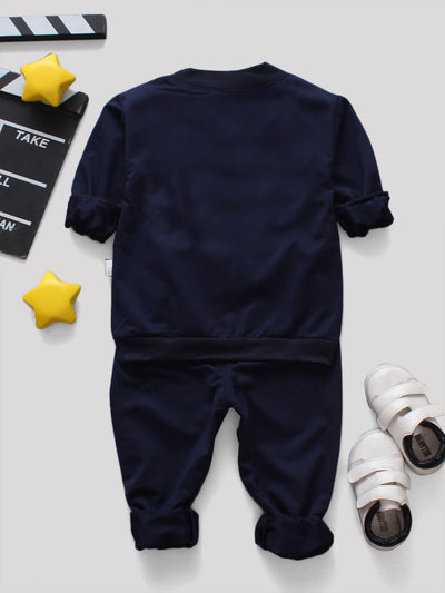 Toddler Boys Letter Print Top & Pants