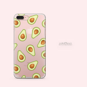 Avocado iPhone & Samsung Clear Phone Case Cover - Alluforu