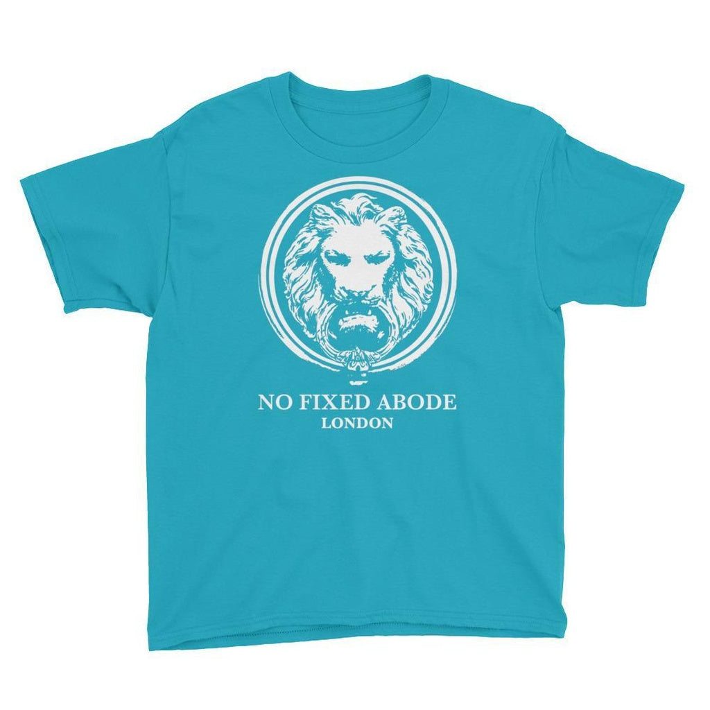 Youth White Lion Short Sleeve T-Shirt - Alluforu