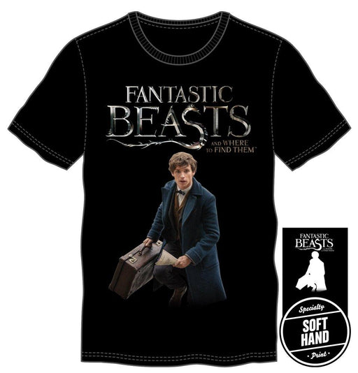 Fantastic Beasts And Where To Find Them Specialty Soft Hand Print Men's Black T-Shirt - Alluforu
